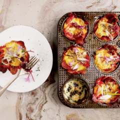 Bacon, egg and cheese tartlets