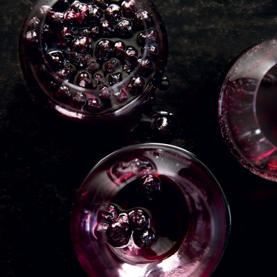 Mulled balsamic blueberry cocktail
