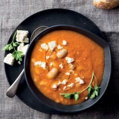 Tomato-and-bean soup with feta