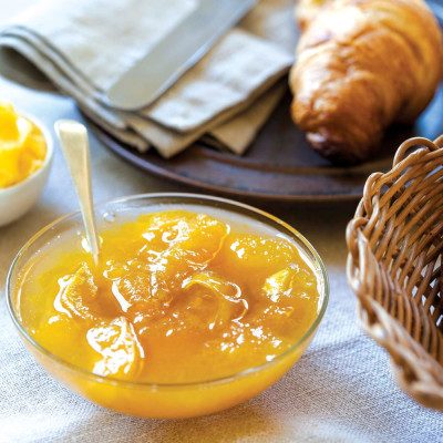Yellow plum compote