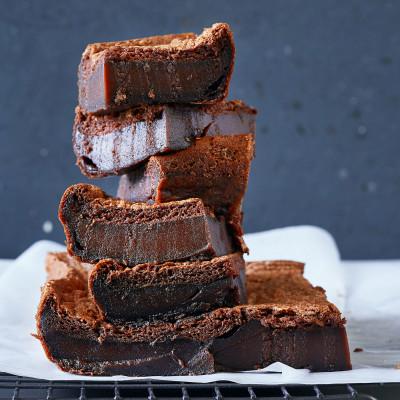 Chocolate coconut custard brownies