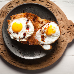 Coconut fried eggs