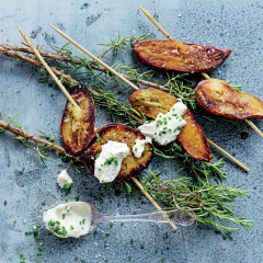Sweet potato with lemony crème fraîche