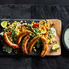 Mexican corn-and-sausage salad