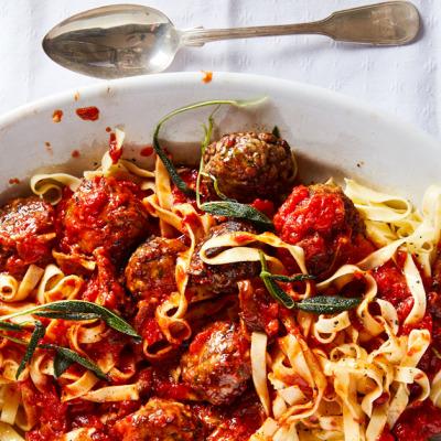Pork meatballs in tomato sauce