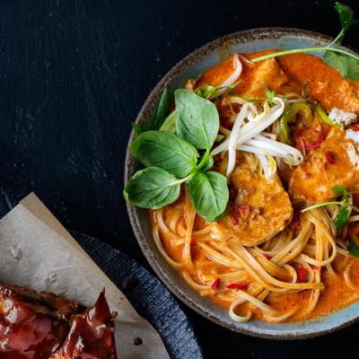 Watch: Make Thai red chicken curry from scratch