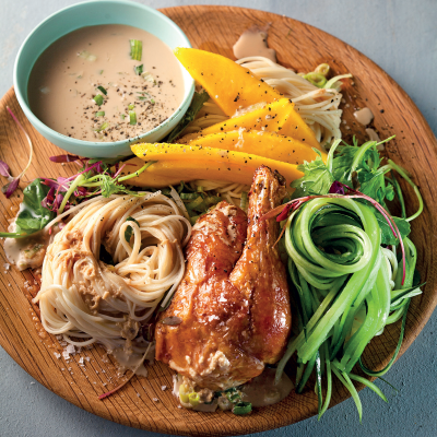 Asian-style rotisserie chicken salad