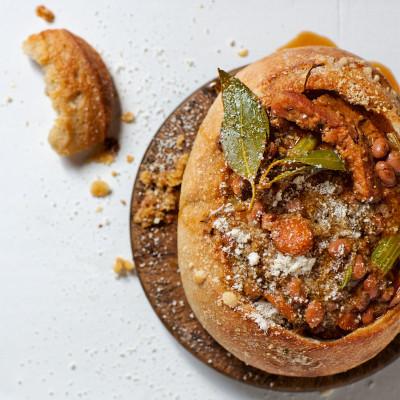 Italian bean and smoked pork soup