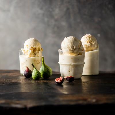 Lesley's honey-and-macadamia nougat ice cream