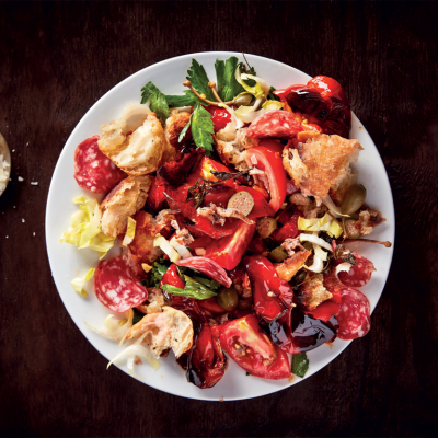 Roast pepper panzanella