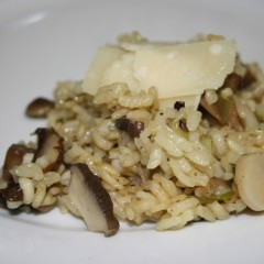 Mushroom risotto oven-baked