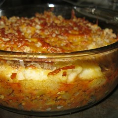 Green bean cottage pie