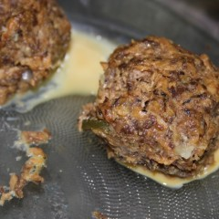Pilchard balls oven-baked