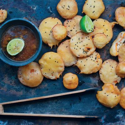 Japanese tempura sweet potato