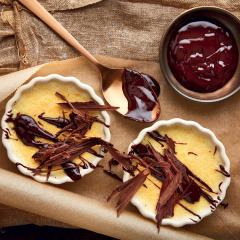 Orange custard puddings