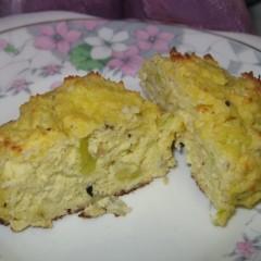 Roasted Onion Cream Cheese Coconut Flour Scones
