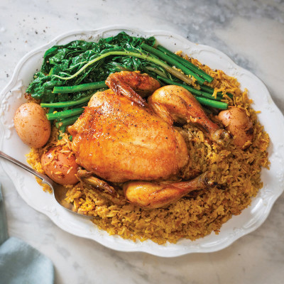 Iraqi spiced chicken and rice