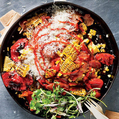 tangy-charred-sweetcorn-and-bacon-salad