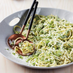 Vegetable spaghetti slaw with buttermilk dressing