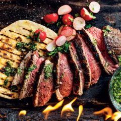 Beef picanha with flatbreads, chimichurri and fried chilli oil