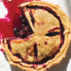 Blueberry-and-cherry pie
