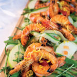 Grilled prawn salad with chilli watermelon jam dressing  View the recipe here.
