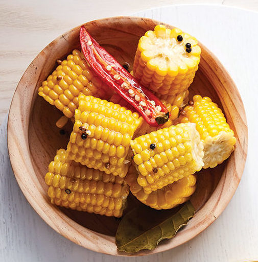 Marinated corn chunks with chilli