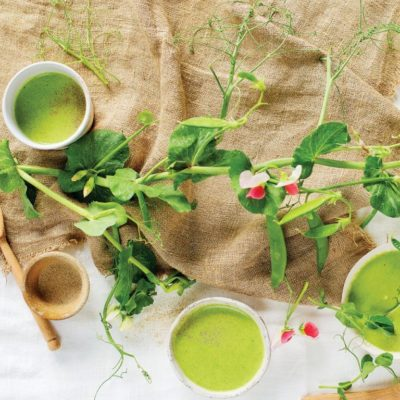 Pea tendril soup