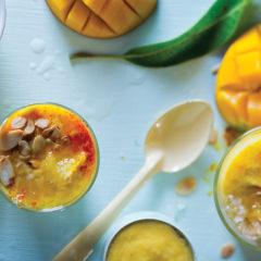 Saffron mango lassi
