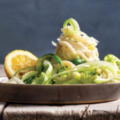 Dill-marinated calamari salad