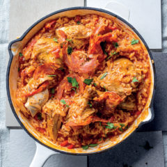 Spanish chicken, sweet pepper and tomato rice