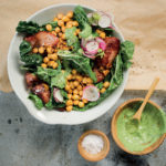 spinach-chickpea-and-bacon-salad