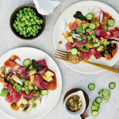 Tuna poké plates
