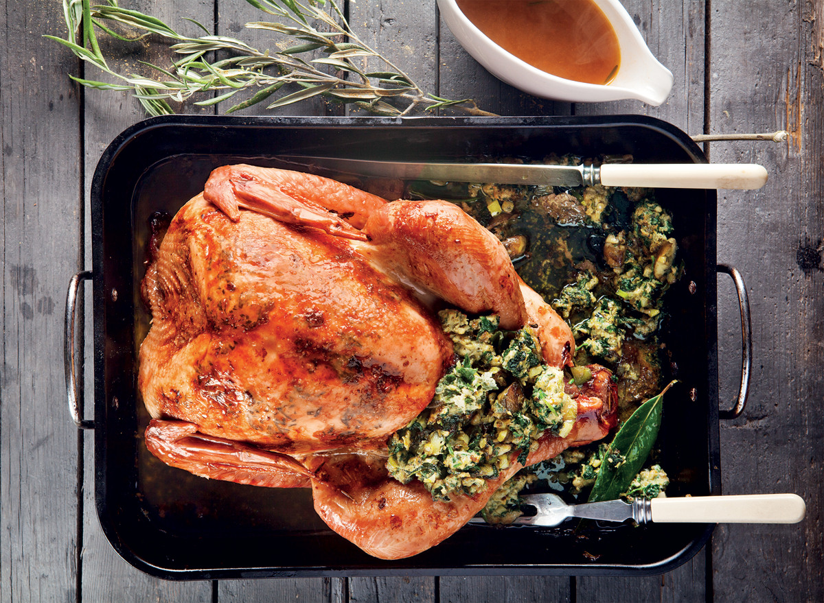 turkey-with-flavoured-butter