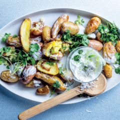 Coconut-and-coriander three-potato salad