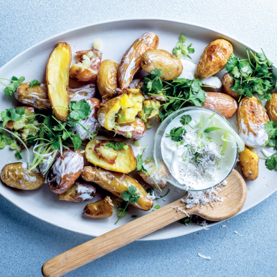 Coconut-and-coriander three-potato salad recipe
