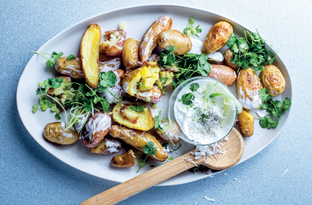 Coconut-and-coriander three-potato salad recipe