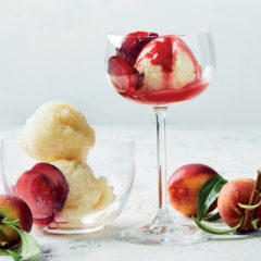 Flavourburst plum and nectarine melba