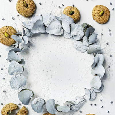 Pistachio-and-coconut biscuits