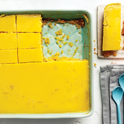Polenta-and-lemon slice