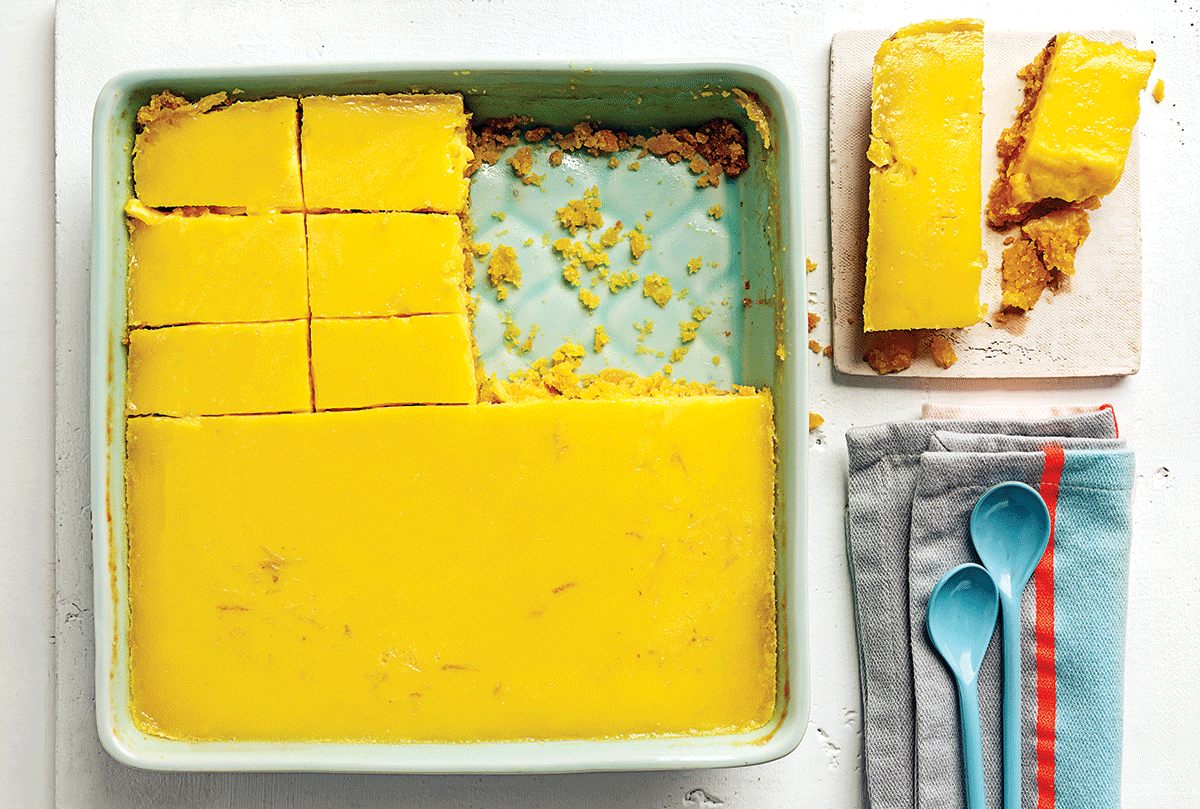 POLENTA-AND-LEMON SLICE recipe