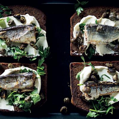 Posh sardines on toast