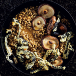 Barley risotto with buttered shiitake and crunchy seaweed bites View the recipe here.