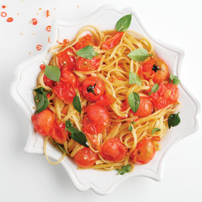 chilli-linguine-with-blistered-tomatoes