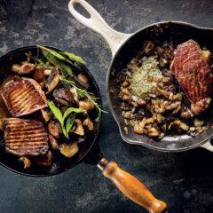 Marsala mushroom steak