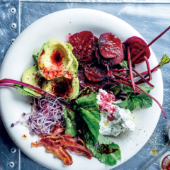 The new Cobb-style salad platter with beetroot dressing