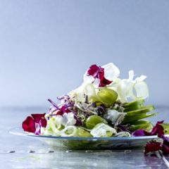 Waldorf slaw with tahini dressing