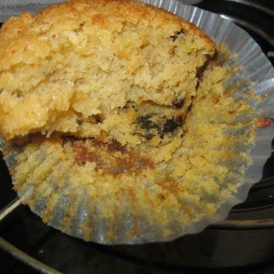 Black liquorice coconut flour muffins