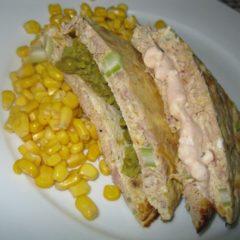 Tuna tart sandwich