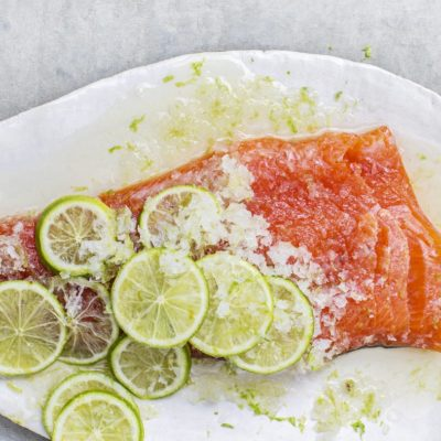 Apple juice-and-lime-cured trout